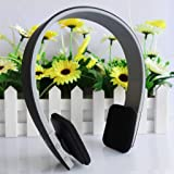 Black AEC Noise Reduction Wireless Bluetooth Headphones 3.0 Stereo Earphone Over-the-ear Headset, Built-in Microphone Volume Control