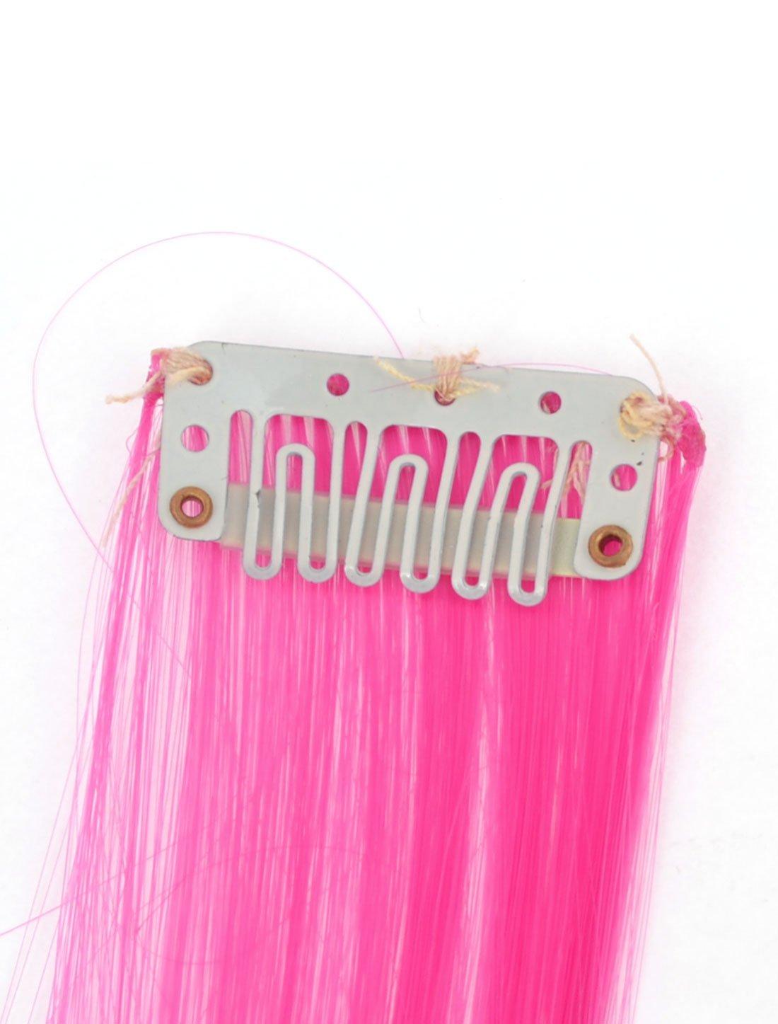 Amazon.com: eDealMax señoras del diseño de Reproducción de peluca de Pelo Recto postizo, Fucsia, DE 22 pulgadas, 0,01 la Libra: Health & Personal Care