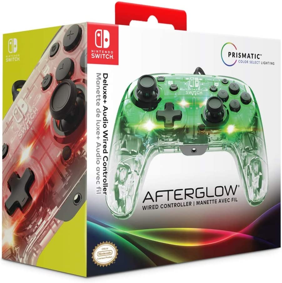 PDP - Mando Afterglow Deluxe Con Cable (Nintendo Switch)