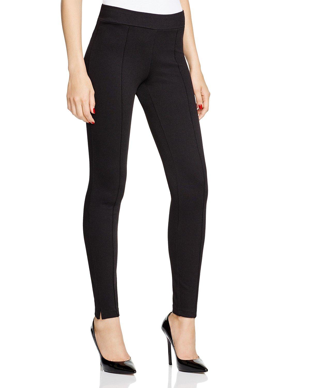 HUE Women's Tweed Loafer Leggings (X-Small, Black)