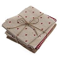 Groves EHENG050 rojo Navidad tela Natural totallygifts trimestres