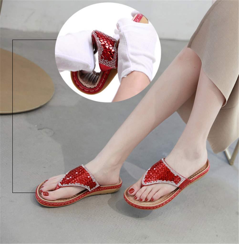 Jiahe Chanclas de la Mujer Zapatillas Toe Post Sandalias