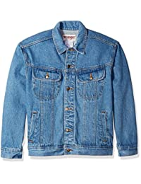 Wrangler Mens Men's Classic Denim Jacket - Motorcycle Edition Button-Down Shirt