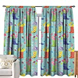 Petpany Rod Pocket Curtains Spring,Rubber Boots