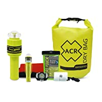 ACR ResQFlare E-Flare and Drybag Safety Kit (2358) - Electronic Marine Flare Meets USCG Requirements