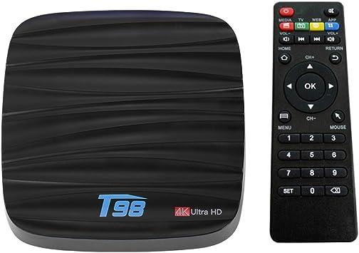 Docooler T98 Smart Android 7.1 TV Box RK3328 Quad Core 4K VP9 H.265 USB3.0 2GB / 16GB Mini PC DLNA WiFi LAN Bluetooth 4.0 HD Media Player Enchufe EU: Amazon.es: Electrónica