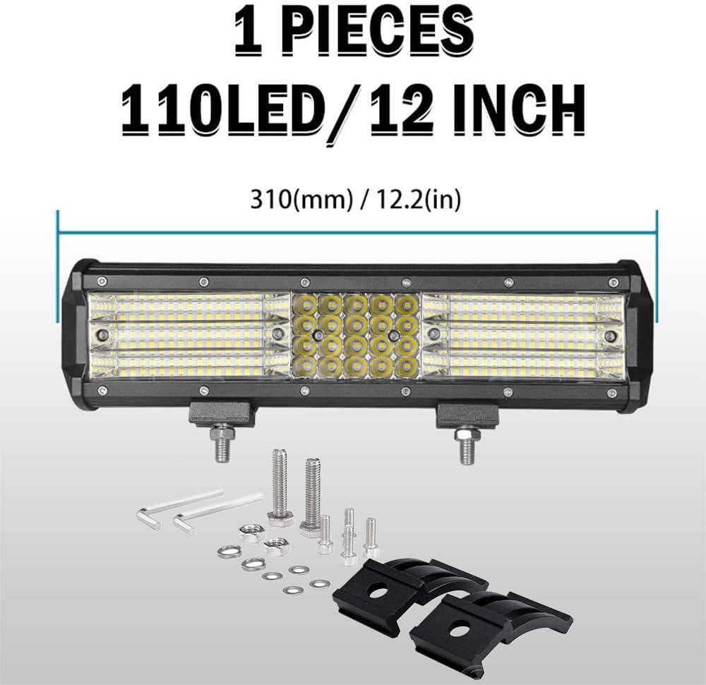 Triple Reihe LED Zusatzscheinwerfer Leuchtbalken mit Kabelbaum f/ür UTV ATV SUV 12V 24V Willpower 270W LED Arbeitsscheinwerfer Bar Flood 5 Zoll Reflektor Offroad Scheinwerfer Arbeitslicht