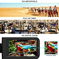 Camcorder Video Camera Full HD Digital camera 1080P 24.0MP Vlogging Camera Night Vision Pause Function with Remote Controller from COMI