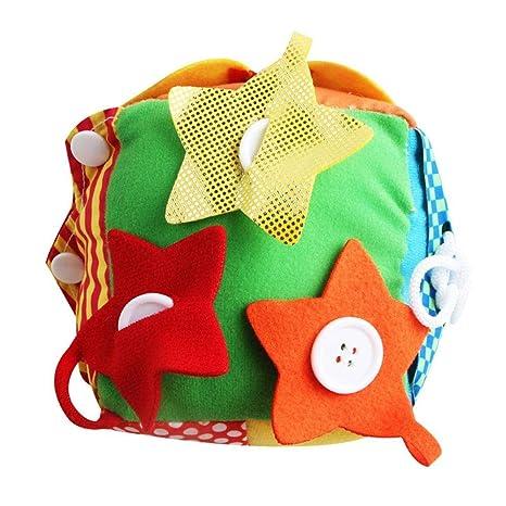 multifunktionale t/äglichen Leben Simulation Pl/üsch Stoff Bl/öcke Baby p/ädagogische Puzzle Rei/ßverschluss Schn/ürsenkel Erkenntnis Spielzeug Square Ball Jerome10Dan Educational Square Ball