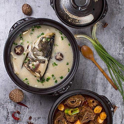weiwei Cocotte Plat à ragoût Grande capacité Pot à Soupe Marmite en céramique à Haute température Domestique avec Couvercle(Taille:3L)