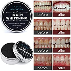 LtrottedJ Teeth Whitening Powder ,Natural Organic Activated Charcoal Bamboo Toothpaste