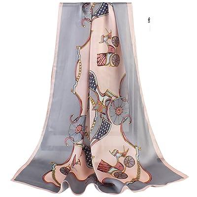 Châle En Soie,Echarpe Longue Imprimé élégante écharpe