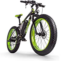BIT RICHE Vélo Électrique Hommes E-vélo Fat Snow Bike 1000W-48V-17Ah Li-batterie 26 * 4.0 VTT Vélo Shimano 21 vitesses Freins à disque Intelligent vélo électrique