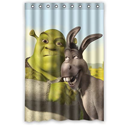 JIUDUIDDODO Coustom Lovely Shrek Cartoon Durable Waterproof Polyester Fabric Soft Bathroom Shower Curtain Size 48x72 Amazonca Home Kitchen