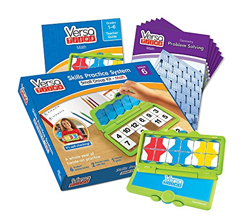 hand2mind VersaTiles Math an Engaging Puzzle Game Kit for Kids (Grade 6+) - Ratio, Problem Solving, Number System, Probability, and Statistics | 6 Student Activity Books and 1 Teacher Guide
