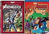 Marvel The Avengers: Earth's Mightiest Heroes! Volume 5 & The Ultimate Avengers Animated Movie Marvel DVD - Super hero cartoon Bundle Set