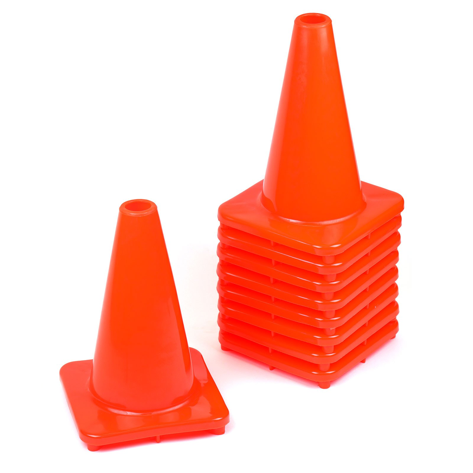 (Set of 40) RK PVC Traffic Safety Cone, Orange, 12-Inch