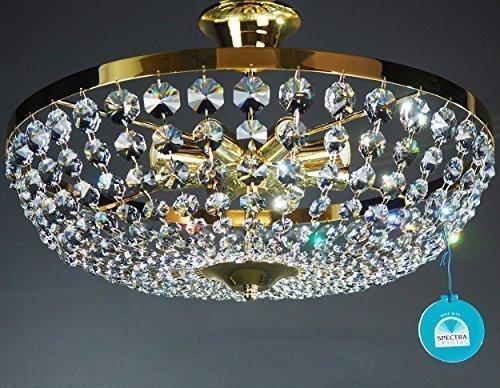 Plafoniere Cristallo Swarovski : Lampadario plafoniera moderno ferro battuto l sfere cristallo