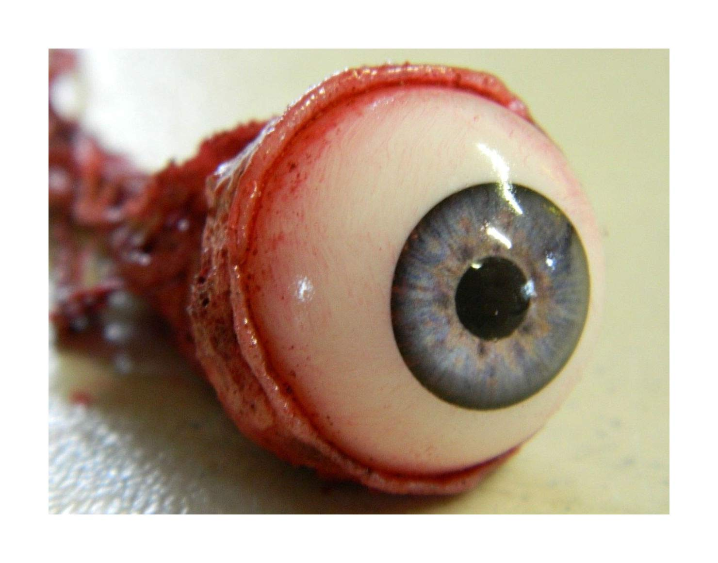 Halloween Horror Movie Prop Ripped Out Eyeball Blue by Tru Sales