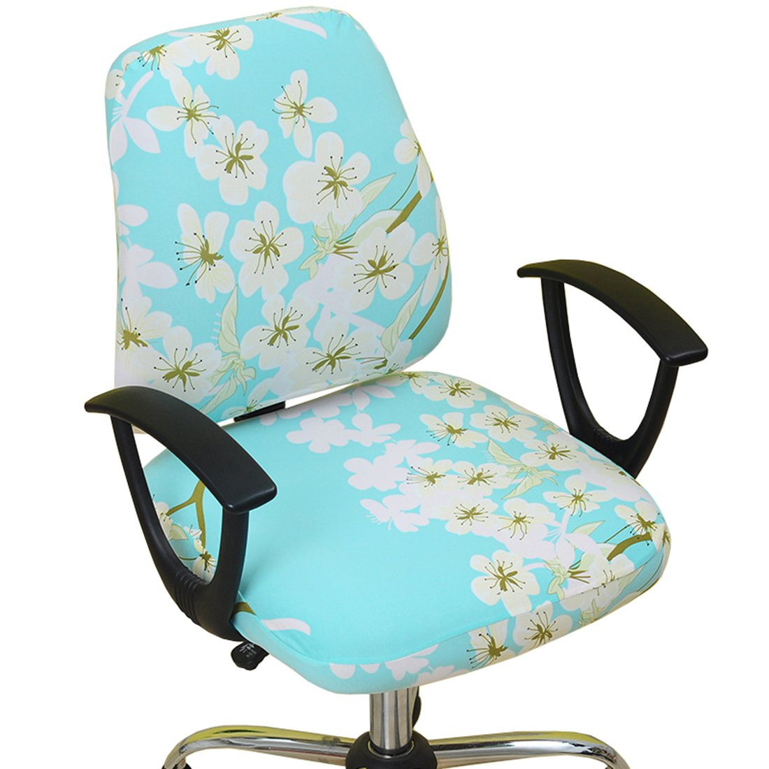 Fantastic Alusbell Office Chair Cover Universal Fit Computer Chair Universal Boss Chair Cover 1 Set 2 Pcs Mint Floral Inzonedesignstudio Interior Chair Design Inzonedesignstudiocom