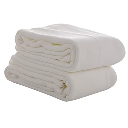 Fast Dry Towel Absorbent Microfiber Beach Bath Washcloth Shower Toallas de Baño (White)