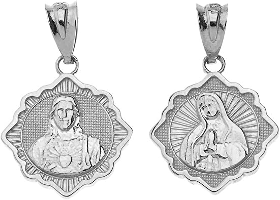 Virgin Mother Blessed Mary Sterling Silver charm Jesus