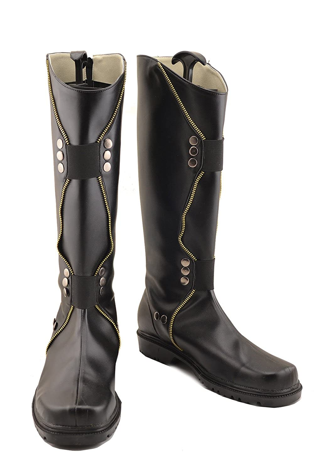 Hotwinds Loki Movie Costume Boots Shoes Men Black Thigh-Boots Cosplay Accessories