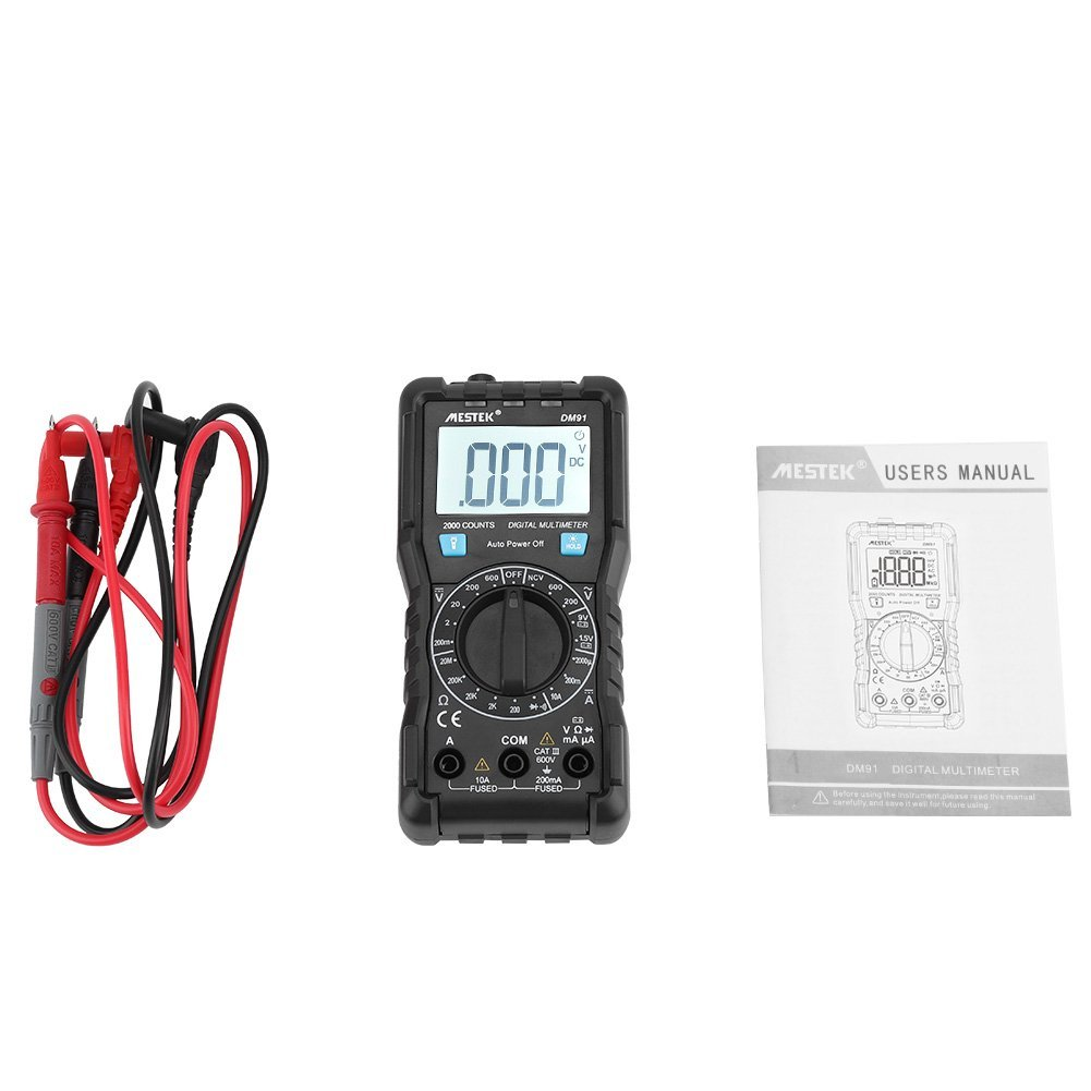 Portable DM91 Digital Multimeter 1999 Counts with Backlight LCD Display
