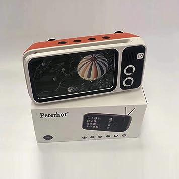 Retro Mini TV Style Altavoz inalámbrico USB Soporte para teléfono móvil portátil Retro inalámbrico más Alto: Amazon.es: Electrónica