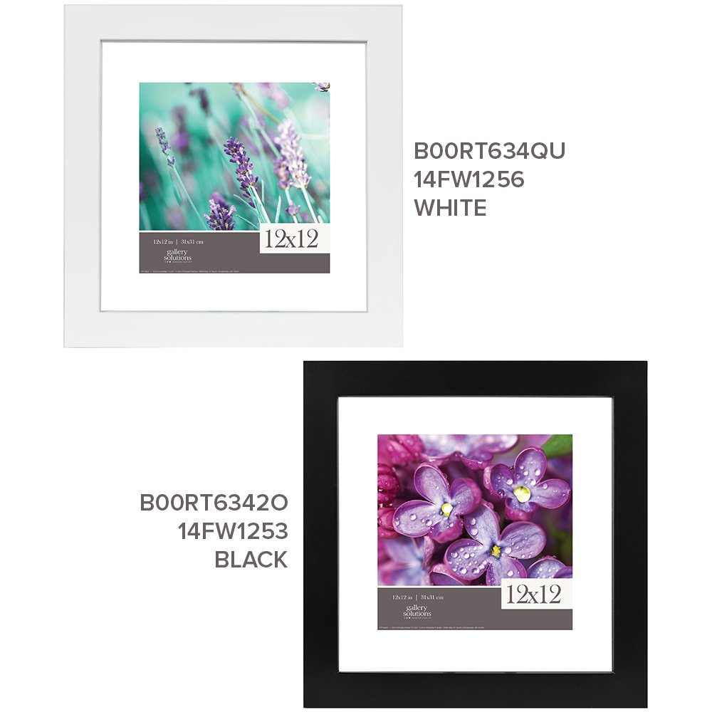 GALLERY SOLUTIONS 12x12 White Float Frame For Floating Display of 10x10 Image #14FW1256