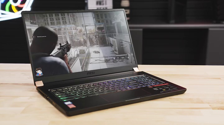 "MSI GS75 Stealth-249 17.3"" Gaming Laptop, 144Hz Display, Thin Bezel, Intel Core i7-9750H, NVIDIA GEFORCE RTX 2060, 32GB, 512GB NVMe SSD, Thunderbolt 3 7"
