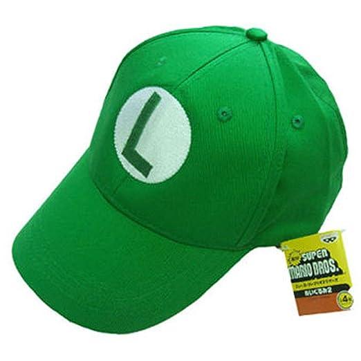 Gorra de Super Mario Bros Mario L Carta Verde Sport gorro Verano ...