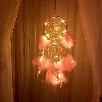 99native LED Dream Catcher Nuage Plume Dreamcatcher Fille Cadeau R/étro romantique Danniversaire D/écor De Chambre,Guirlande d/écorative festive pour No/ël Halloween