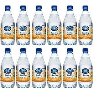 Crystal Geyser Sparkling Spring Water, Orange, 18oz. Pet Bottles, No Artificial Ingredients, Sweeteners, Calorie Free (Pack Of 12)
