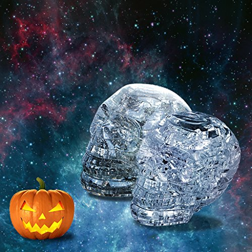 UKnows Halloween 3D Clear Puzzle Jigsaw Assembly Model skull Shape Intellectual Toy Gift Hobby