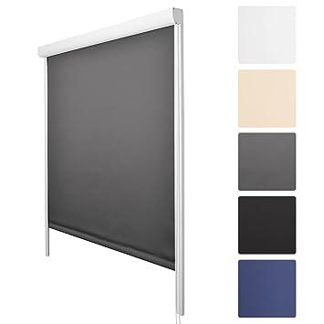 verdunkelungsrollo mit seitlichen f hrungsschienen. Black Bedroom Furniture Sets. Home Design Ideas