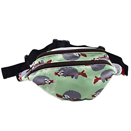 10a418a0ed0b Amazon.com  Sloth Gifts Bag Pack Hip Waist Bag Canvas Bum Belt Hip Pouch  Bags  Sports   Outdoors