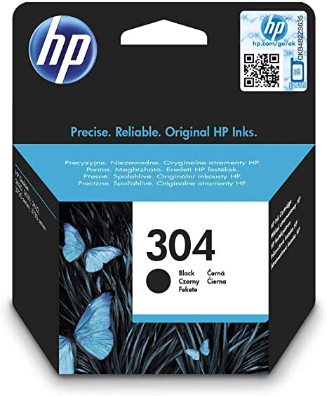 HP N9K06AE 304 Cartucho de Tinta Original, 1 unidad, negro: Amazon ...