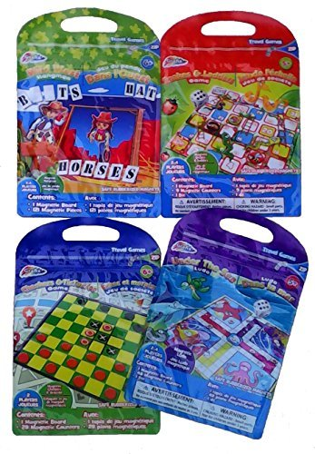 4 Set Toy Travel Kids Board Games ,Wild West Hangman,Snakes & Ladders,Checkers & Tic Tac Toe,Under The Sea