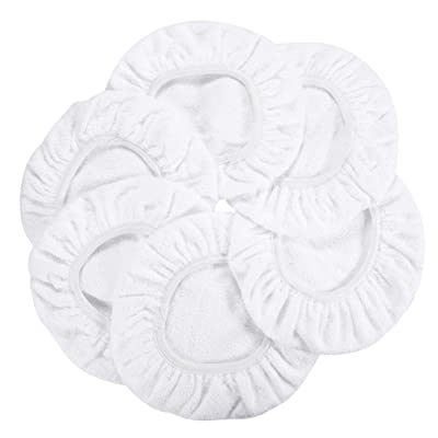 "AUTDER Car Polisher Pad Bonnet - Cotton Polishing Bonnet Buffing Pad Cover - for 5"" to 6"" Car Polisher Pack of 6Pcs - White: Automotive"