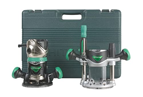 Hitachi KM12VC 11 Amp 2-1/4-Horsepower Plunge and Fixed Base Variable Speed Router Kit