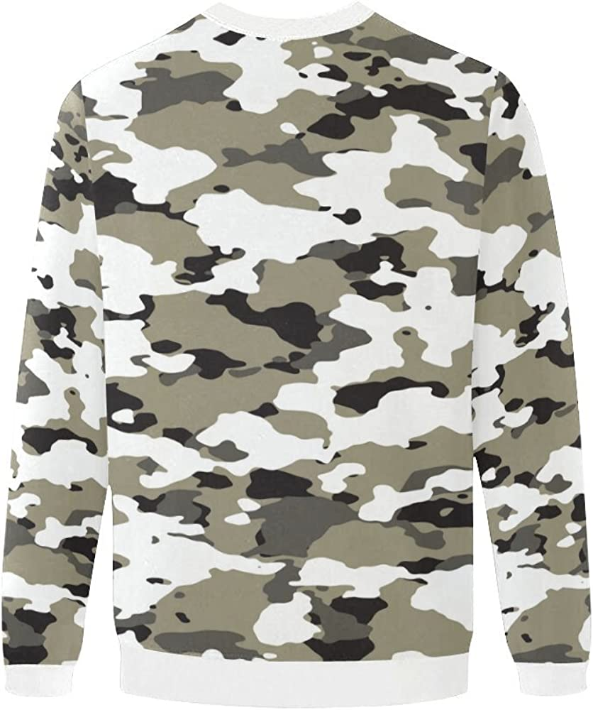 LumosSports Military Camo Camouflage Pattern Mens 3D Printed Pullover Sweatshirt Sizes S-5XL