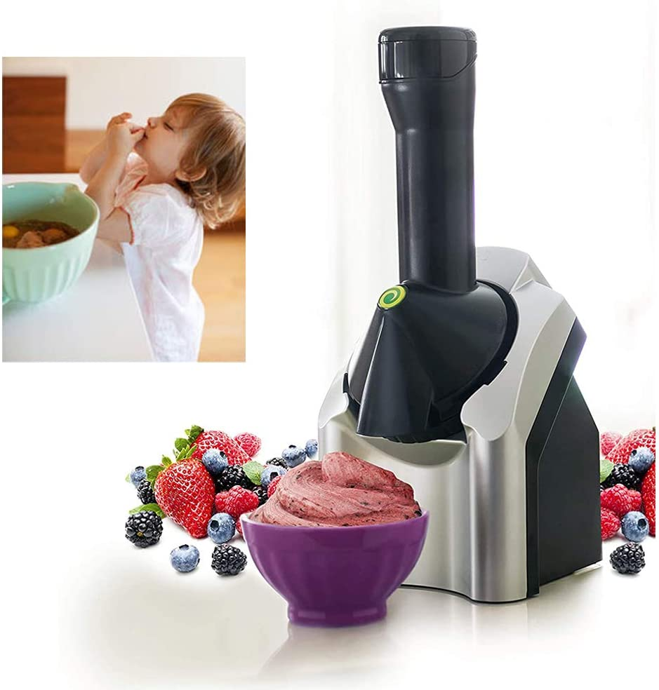 Home ice Cream Machine Travel Portable Making Delicious ice Cream Sorbet and Frozen Yogurt Machine (0.7 L Capacity )