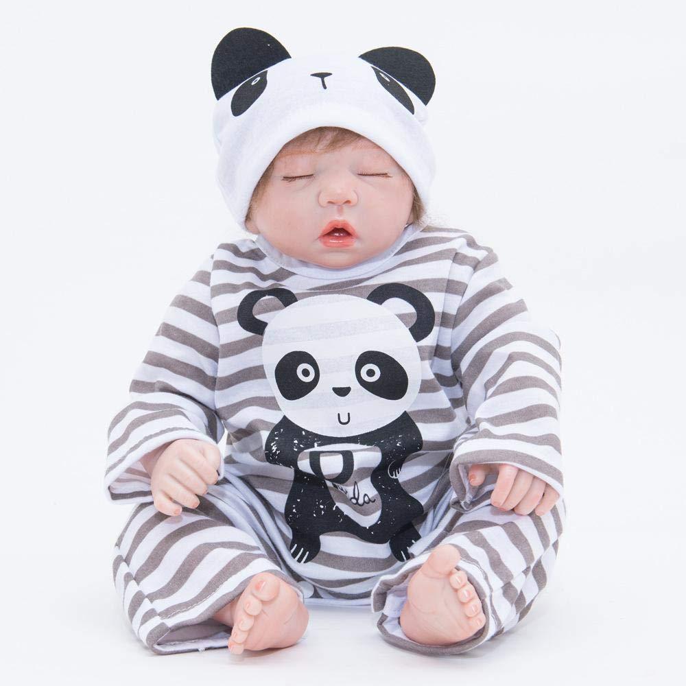Hongge Reborn Baby Doll,Realistische Reborn Baby Puppe Spielzeug Soft Silikon Reborn Baby Kind Spielzeug Geschenk 55 cm