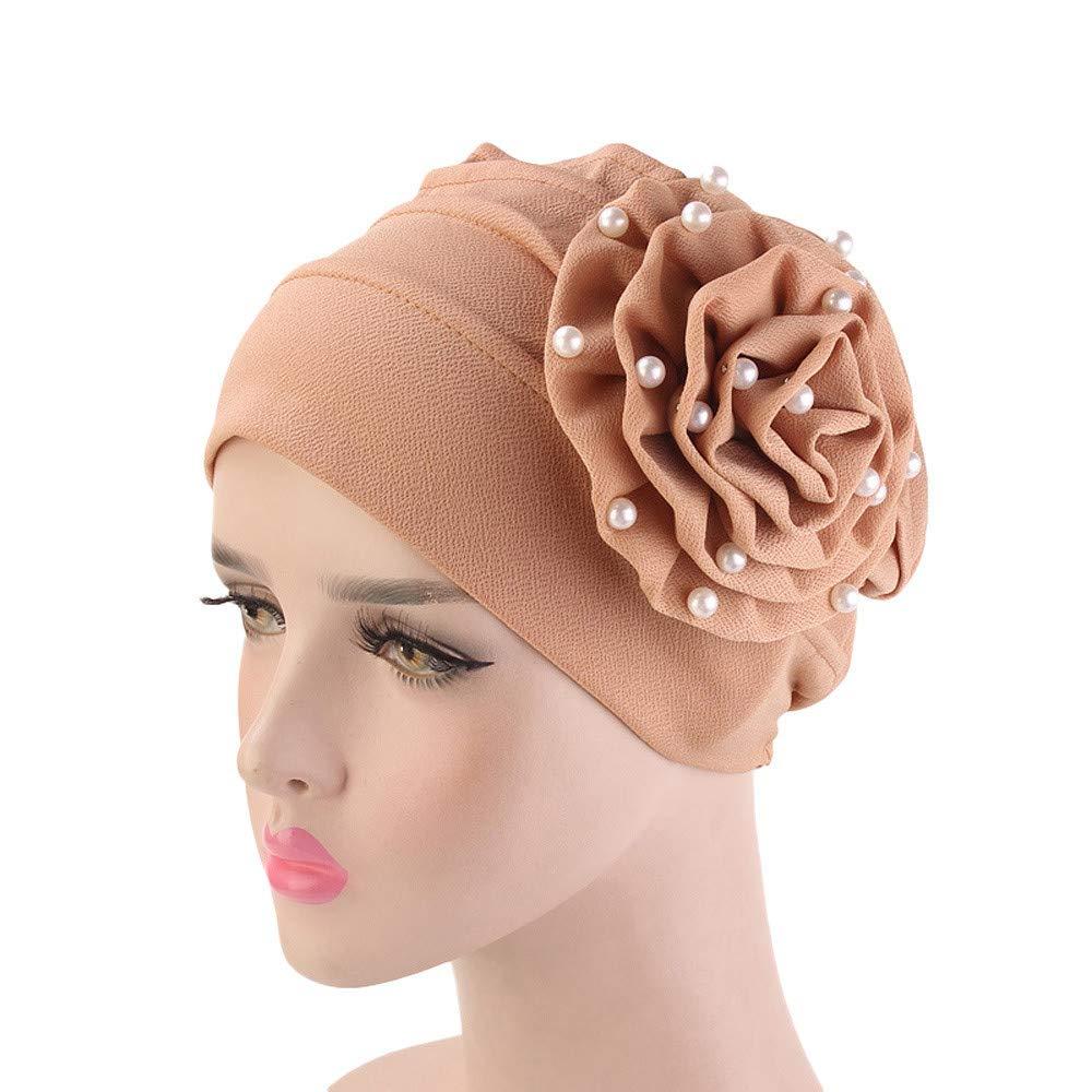 NEWONESUN Women Turban Cap, Floral Cancer Chemo Hat Beanie Scarf Head Wrap Cap at Amazon Womens Clothing store: