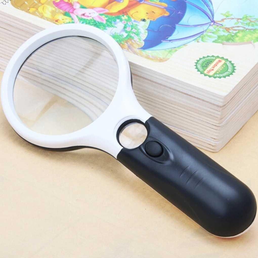 mailfoulen Luz LED 45X Lupa Lente portátil Mini microscopio del ...