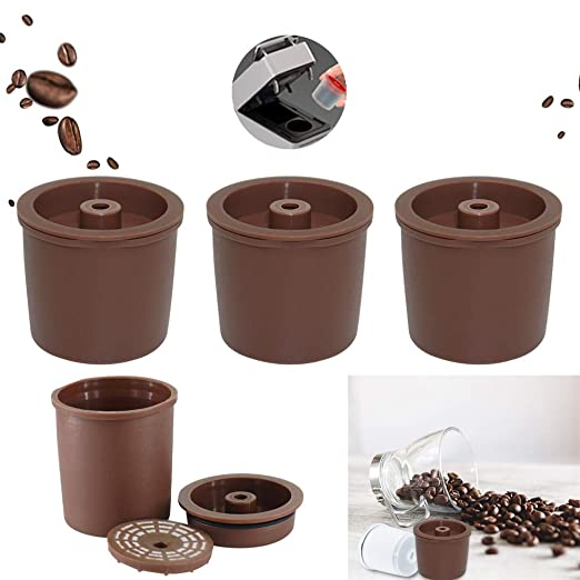 Konesky Cápsulas de Café Reutilizable, 3 piezas Cafetera Illy ...