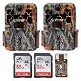 Browning Recon Force FHD Extreme Trail/Game Camera with Color Screen (20MP) + 32 Gb Card & Focus USB Reader