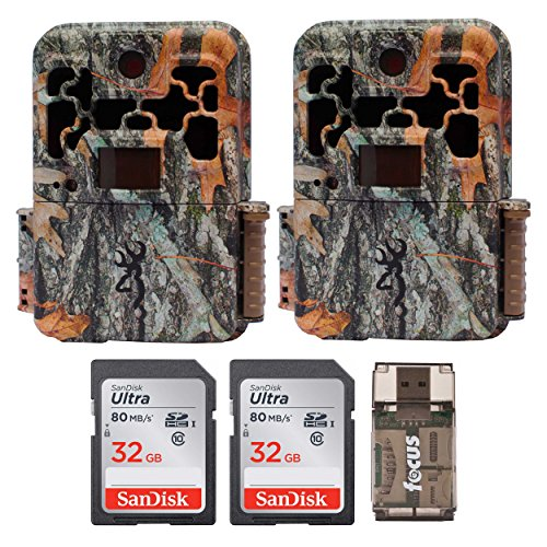 Browning Recon Force FHD Extreme Trail/Game Camera with Color Screen (20MP) + 32 Gb Card & Focus USB Reader by Browning Trail Cameras