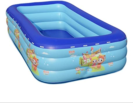 Baño inflable,Air pool Bebé Infantil Piscina Inflable Familia Piscina Familia Agua Piscina de la bola Ultra Gran Adulta Espesada , 300*175*60: Amazon.es: Juguetes y juegos